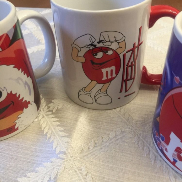 m m other red mm character mug coffee cup 3 in group poshmark